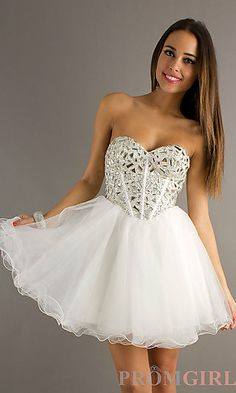 Strapless Short Prom Dress by Dave