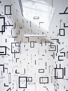 Amazing installation work from likeafieldmouse: Esther Stocker  http://www.estherstocker.net/
