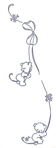 teddy bears hanging on a ribbon by K0dama, via Flickr