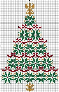 Christmas tree pattern crochet cross stitch 69 Ideas for 2019 Xmas Cross Stitch, Just Cross Stitch, Cross Stitch Flowers, Cross Stitch Kits, Counted Cross Stitch Patterns, Cross Stitch Charts, Cross Stitch Designs, Cross Stitching, Cross Stitch Embroidery