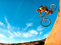 When mountain meets mountainbike and v-brakes.