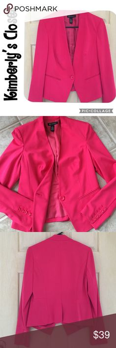 ✨INC✨ blazer INC pink blazer.  Fully lined.  Button details on sleeves.  Machine washable.  Only worn a couple of times - excellent condition. INC International Concepts Jackets & Coats Blazers