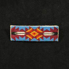 Blue Feathers Beaded Barrette – Waci'-ci Trading Co. Native American Hand Made Beadwork