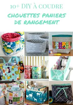 10 et plus patrons de corbeilles et de paniers en tissu Quel panier de rangement… 10 and more patterns of baskets and baskets What fabric do you prefer? Coin Couture, Couture Sewing, Bag Patterns To Sew, Sewing Patterns, Cloth Patterns, Diy Bags Purses, Clothes Basket, Fabric Handbags, Creation Couture