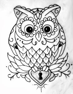 206 best owls images barn owls owl crafts tutorials  owl outline all about owl adult coloring pages coloring books colouring tattoo
