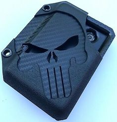 A MIDNIGHT 💀 DARK EDITION PUNISHER 💀 Kydex wallet designed and made by HicksHolsters. All wallets are made using Kydex, Boltron and/or Holstex for durability and longevity. The pocket or money clip is removable for added versatility. Booney Hat, Buff Original, Funny Patches, Realtree Camo, Panel Hat, Kydex, Punisher, Carbon Fiber, Money Clip