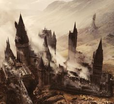 Hogwarts after the battle. Oh my god this is so painful to look at