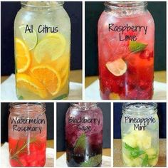 Make your own homemade vitamin water - 9 recipes  • To give taste to the water and try to avoid using chemicals that are sold on the market.   • To benefit from the antioxidants found in fruits and herbs used in these recipes. • To reduce consumption of sugary drinks such as soft drinks or fruit juices and decrease your sugar intake. http://ladycreativity8.blogspot.com.au/2014/03/make-your-own-homemade-vitamin-water-9.html Lady Creativity