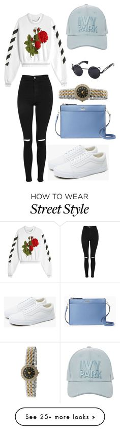 """S T R E E T   S T Y L E"" by hamiltonm737 on Polyvore featuring Kate Spade, Off-White, Topshop, Peugeot and Vans"
