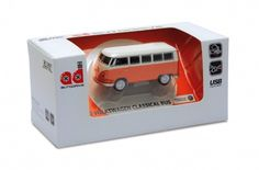 Orange VW Bus USB Flashdrives available in 8GB and 16GB  Introducing the New VW Collections at www.coolvwstuff.com Hundreds of Officially Licensed Volkswagen Products and Ship Globally!