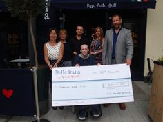 Bella Italia Cardiff has raised an outstanding £8035.89! Thank you so much to everyone involved.