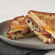 There's nothing like a grilled-cheese-and-bacon sandwich. When you add slices of crisp apple and fresh-tasting sprouts to balance the richness, why, you have yourself a new instant classic.