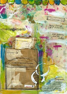 Art journal page by Roben-Marie.