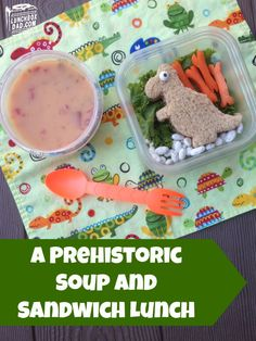 Here is a fun #dinosaur lunch you can make in minutes! Just use a cookie cutter!