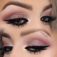 Light smokey eye makeup works great for every day, but you can wear it for a special occasion, as well. Just add some accents.