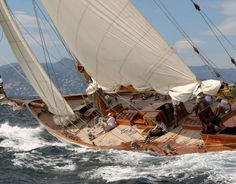 From the Panerai Classic Yachts Challenge. Via Officine Panerai.