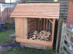 Douglas Fir firewood shed