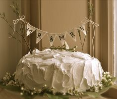 Bunting flags cake topper