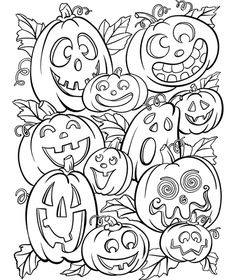 FREE Jack O' Lanterns Halloween Coloring Page - Freebies and Free Samples Fall Coloring Pages, Free Coloring, Adult Coloring Pages, Coloring Pages For Kids, Coloring Books, Kids Coloring, Pumpkin Coloring Pages, Fairy Coloring, Halloween Activities