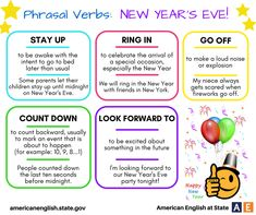 Phrasal Verbs: New Year's Eve!