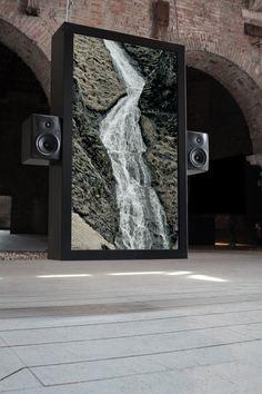 Audiovisual Installation of Waterfalls –Octfalls, Venice, 2011 by Ryoichi Kurokawa