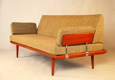 vintage mid-century teak couch/daybed