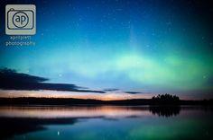 #aurora #stars #falconlake #photography Aurora Borealis and stars over Falcon Lake.