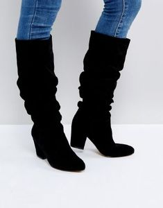 Shop the latest Office Kowl Slouch Leather Boots trends with ASOS! Free delivery and returns (Ts&Cs apply), order today! Black Leather Loafers, Leather Booties, Black Booties, Ankle Booties, Bootie Boots, Slouchy Ankle Boots, Black Order, Mode Blog