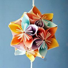 DIY Origami Kusudama Flowers - The Idea King