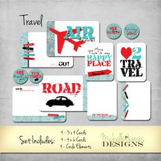 Travel Kit - Project Life Pocket Pages :http://michellejdesigns.com/travel-kit-project-life-pocket-pages/
