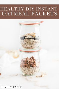 Save time and money on breakfast in the mornings with this customizable healthy instant oatmeal packet recipe! Healthy Meal Prep, Healthy Breakfast Recipes, Brunch Recipes, Healthy Snacks, Healthy Recipes, Vegan Breakfast, Dairy Free Recipes, Real Food Recipes, Homemade Instant Oatmeal