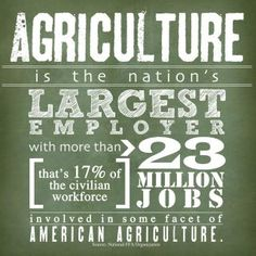 23 million jobs. 17% of civilian workface. #Ag is the backbone of U.S. economy. http://j.mp/ybktCe