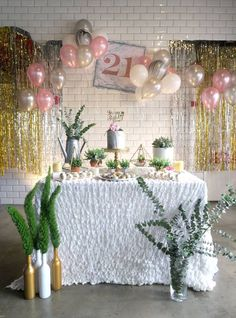 Elegant Marble Inspired 21st Birthday Party on Kara's Party Ideas | KarasPartyIdeas.com (18)  #karaspartyideas #21stbirthday #marbleparty