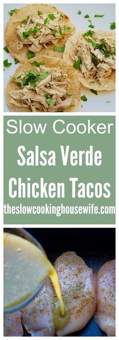 Easy and delicious salsa verde chicken tacos!