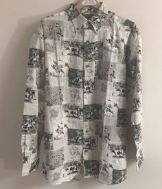 Woods & Water Mens XL Shirt Button Front Long Sleeve Birds Dog Hunting NWT #WoodsWater #ButtonFront