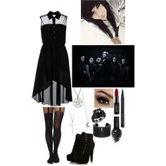 """""""Going to the Kerrang awards with Motionless in White"""" by greendayluver-785 on Polyvore"""