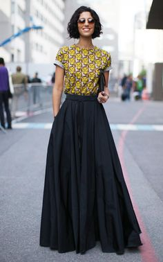 How to style a maxi skirt for the office waysify