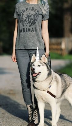 Spirit Animal women's t-shirt from Buy Me Brunch Tee. A unicorn spirit animal? A wolf spirit animal? Why not both! Find your spirit animal today!
