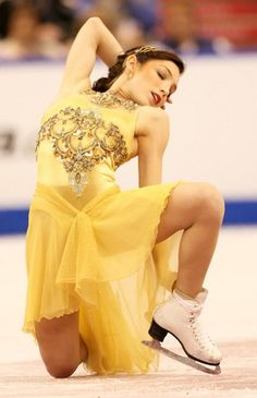Meryl Davis-Yellow Figure Skating / Ice Skating dress inspiration for Sk8 Gr8 Designs.
