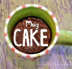 Easy Microwave Mug Cake » Adventures of a Mamarazzi