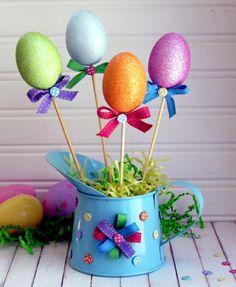 Des œufs brillants