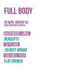 """""""Maximise the benefits of your training by adding this fully body workout in! ✔️"""""""