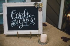 I love the chalkboard! 10 Ways to Honor Loved Ones (Not in the Wedding Party) - WeddingWire.com