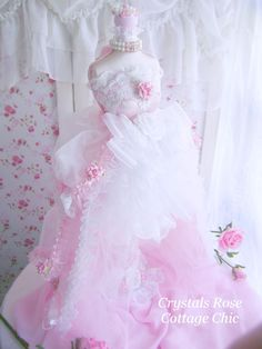 Shabby Chic Dress Form Romantic Victorian by sweetlilboutique