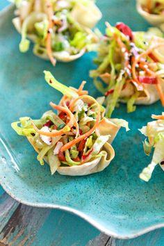 Asian Salad Wonton Cup Appetizers