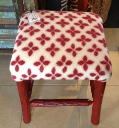 Wet felted fabric made by Leslie Cervenka, Bluebird Woolen Arts. Upholstered by Lakeside Living, LLC