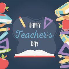 Teachers Day Greeting Card, Happy Teachers Day, Greeting Cards, Wishes For Teacher, Teachers' Day, Free Illustrations, Ruler, Caption, Royalty