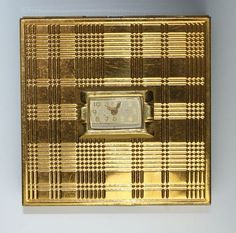 Evans Gold Tone Watch Novelty Powder Compact