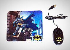 DC Comics Batman Optical Mouse & Mouse Pad Combo Sakar https://www.amazon.com/dp/B00VNC782M/ref=cm_sw_r_pi_dp_x_wUVayb14SQFV9