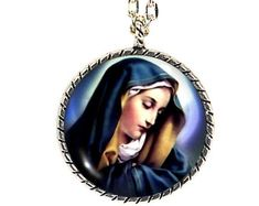 Mother Mary, Mary Necklace, Religious Necklace, Religious Jewelry, Religion Jewelry, Christian Jewelry, Christianity Necklace, Christian
